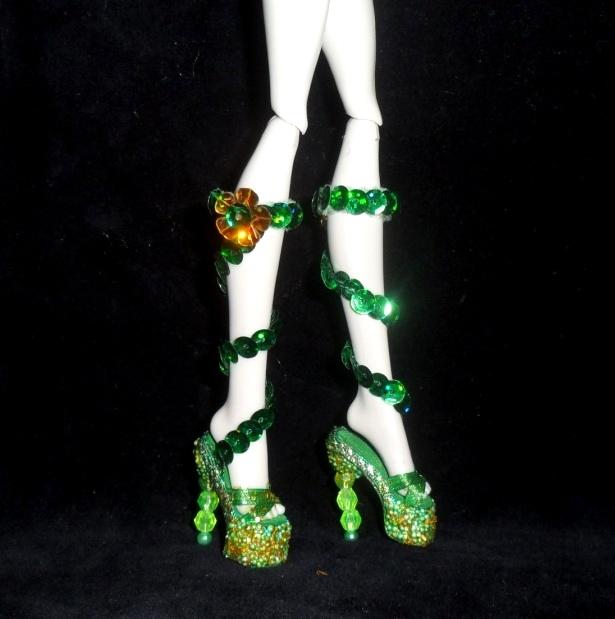 Как сделать для кукол монстер хай обувь